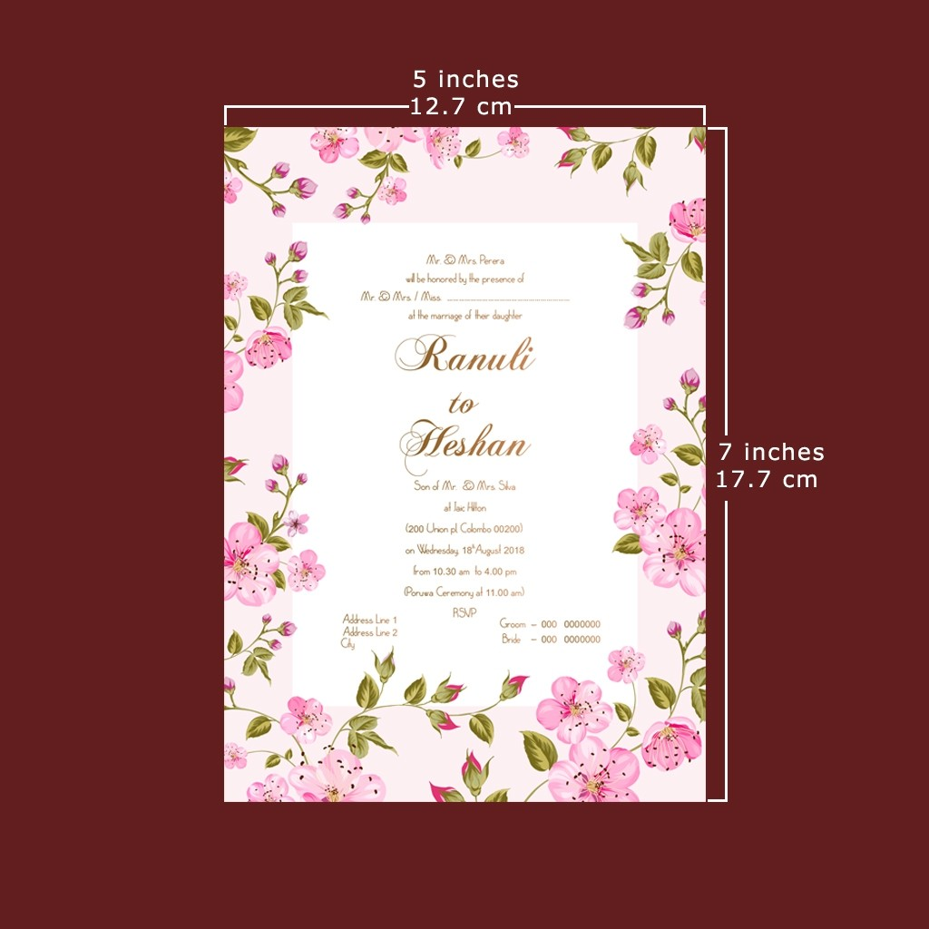Wedding Invitation Card Double Sided Anim8