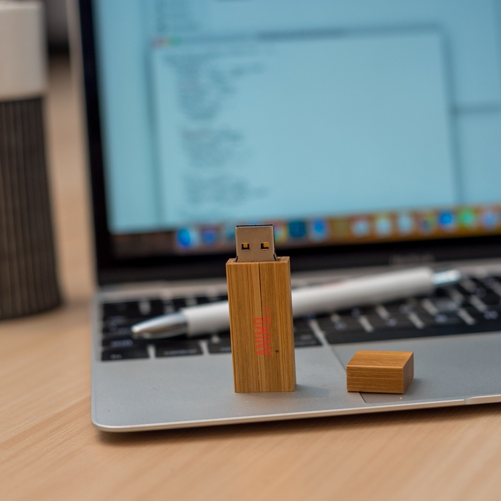 Printed Wooden Pen Drive
