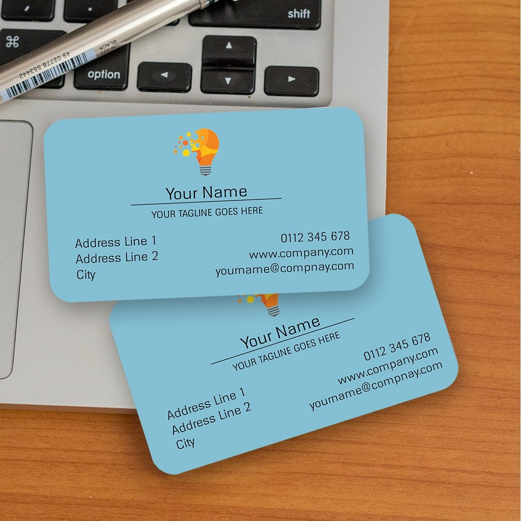 ROUNDED SINGLE SIDED VISITING CARDS