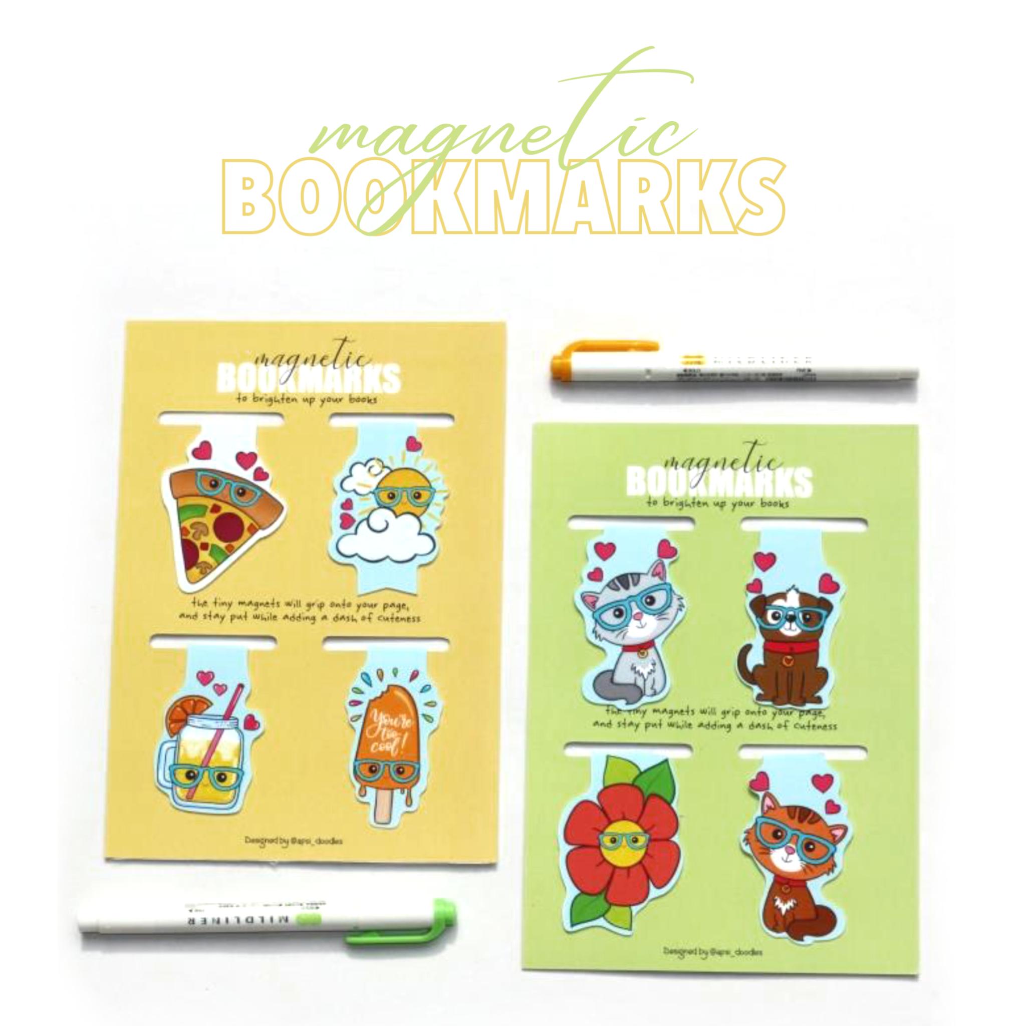 Magnetic bookmarks - Set 3