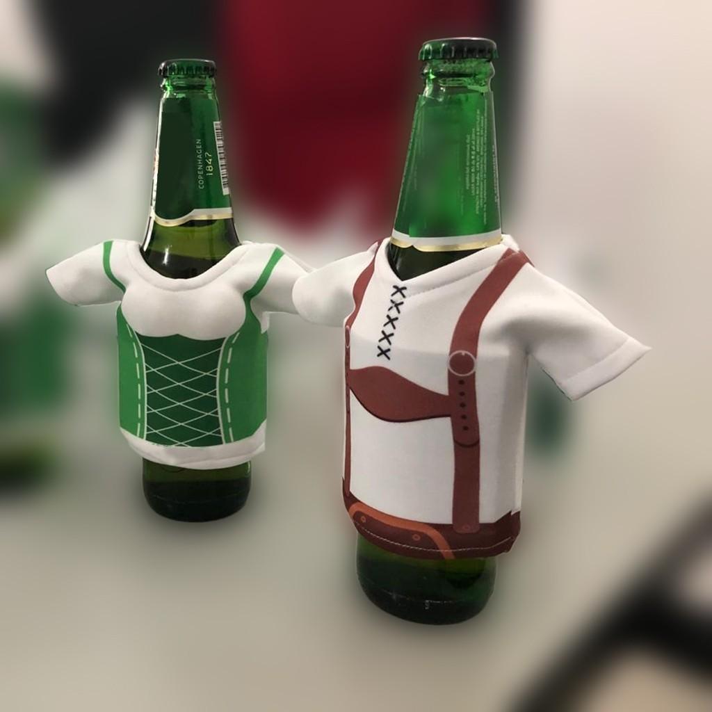 Fabric Dirndl Beer Stubby Holder