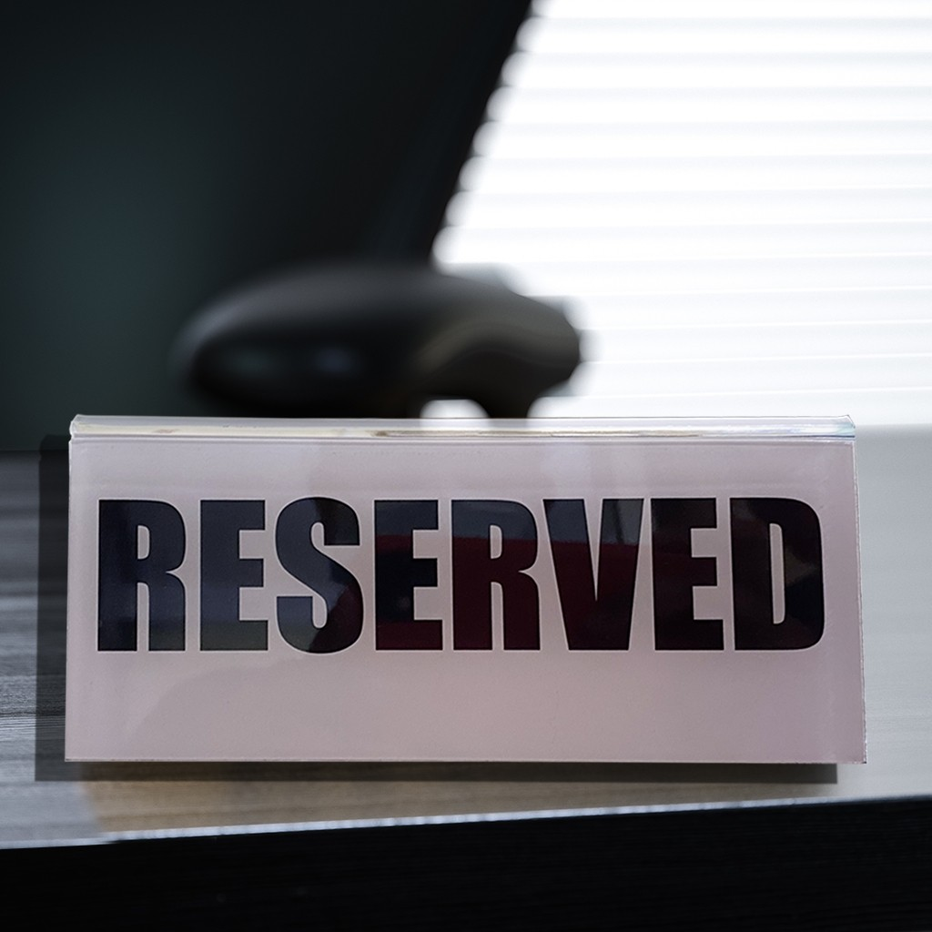 Plastic Reserved Sign With Custom Insert