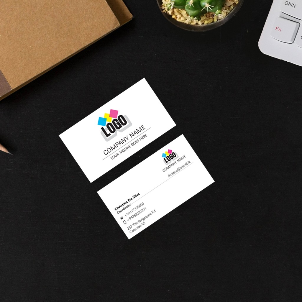 Double Sided Plastic Visitig Cards