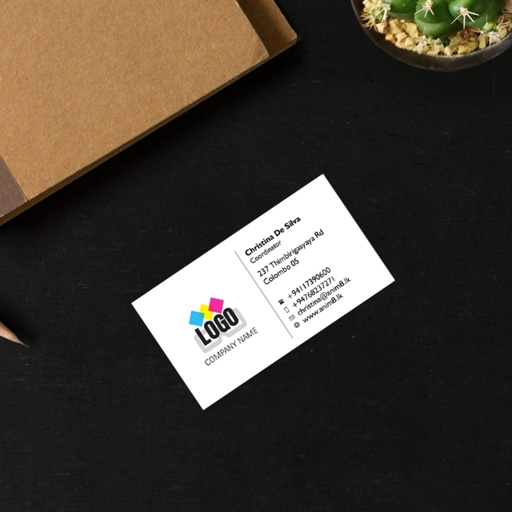 Single Sided Plastic Visiting Cards