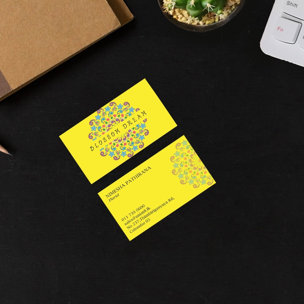 Coloured Visiting Cards - Yellow Florist (Under Construction)