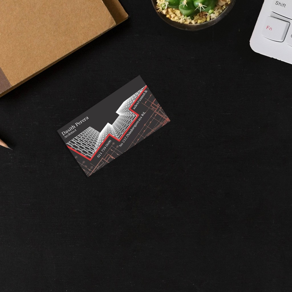 Coloured Visiting Cards - Architect Black