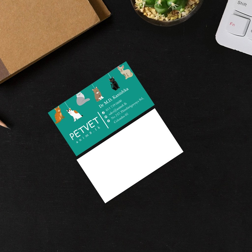 Visiting Card Design for a Veterinarian