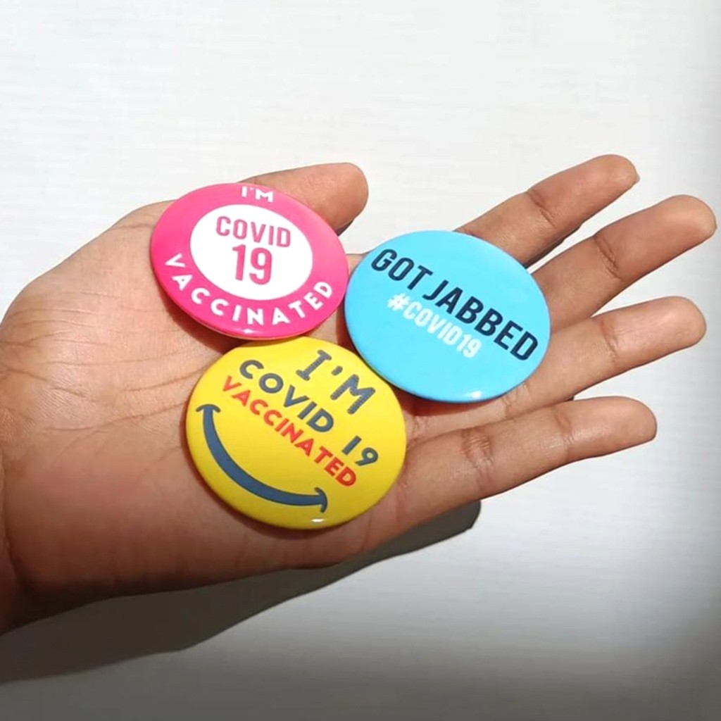 I'm Vaccinated Colourful Badges