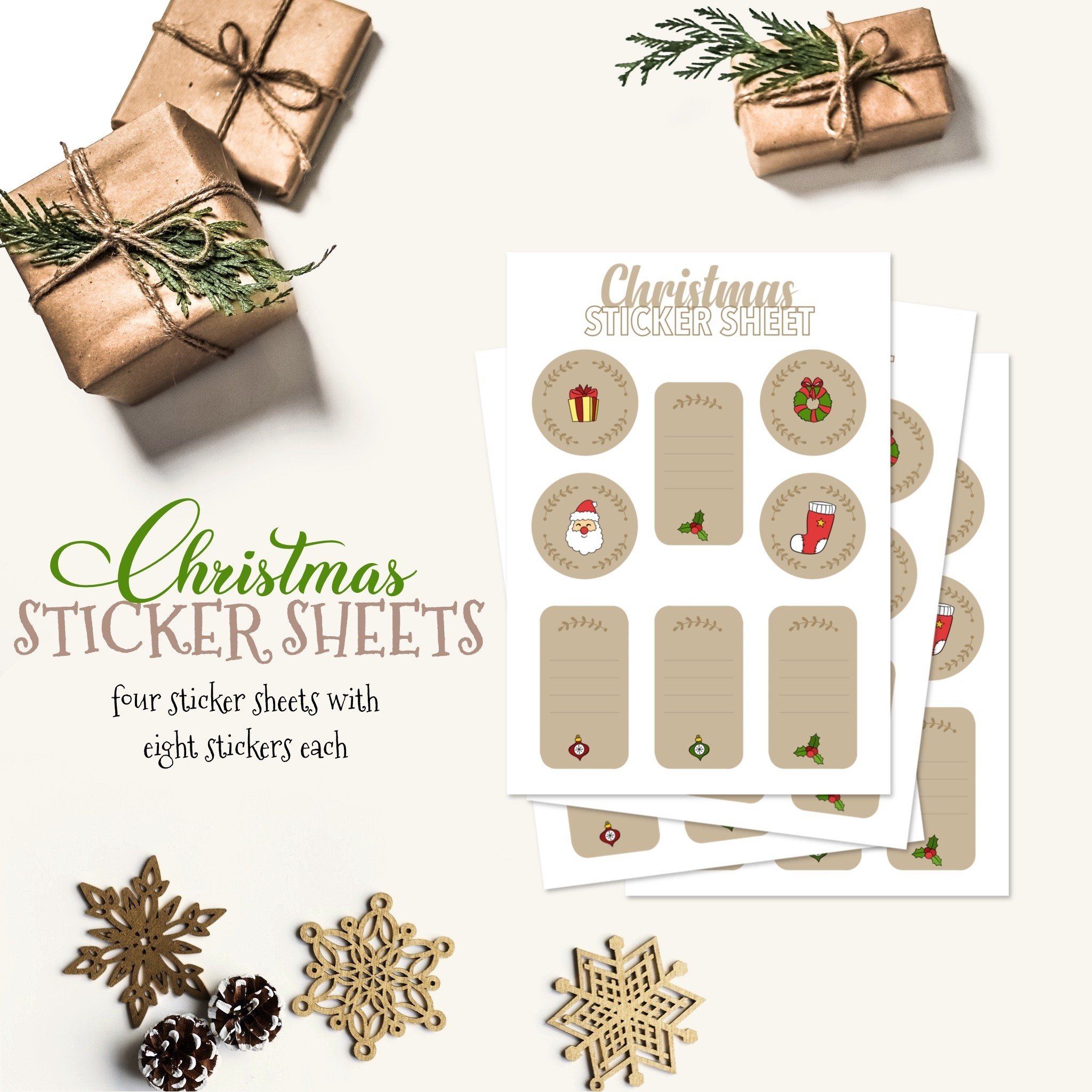 Christmas Sticker Sheets