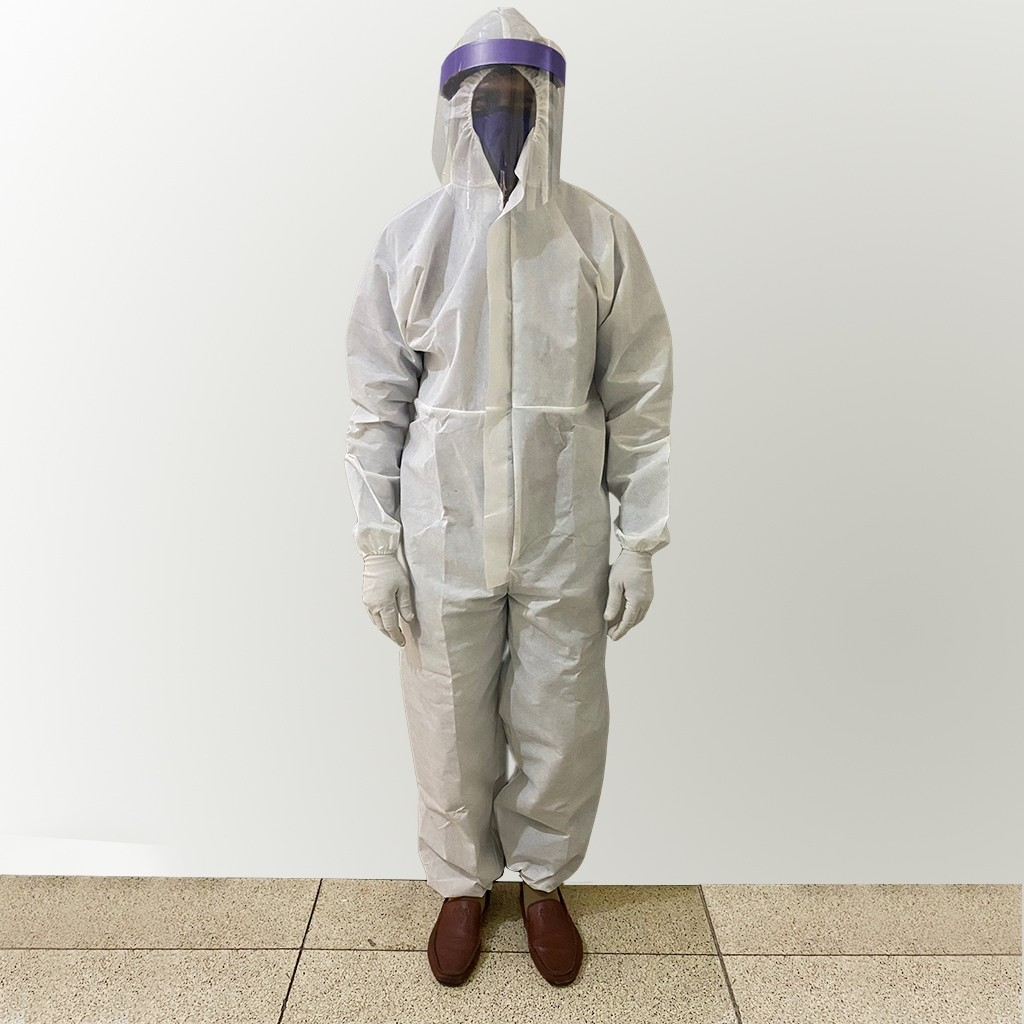 White PPE Coverall