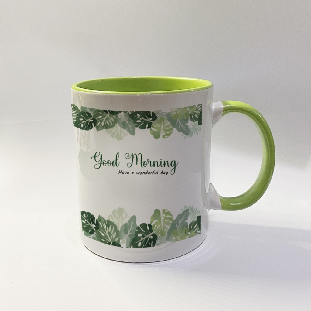 Inner Coloured Green Mug