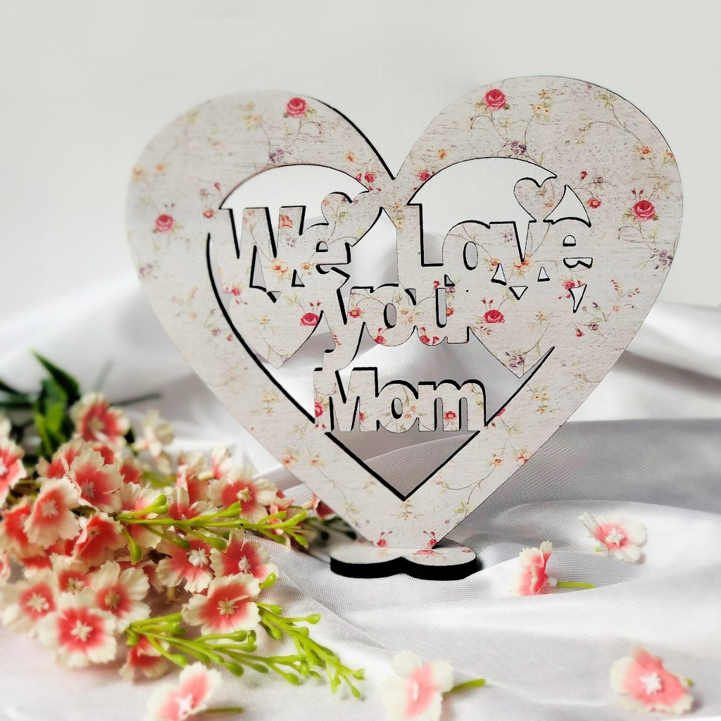 Mother's Day Wooden Heart