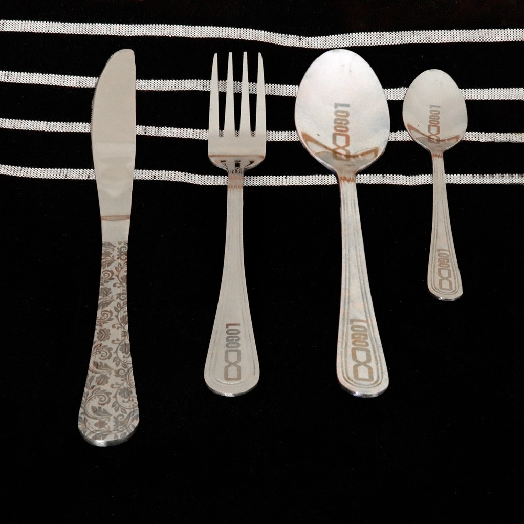 Laser Etched Branded Cutlery