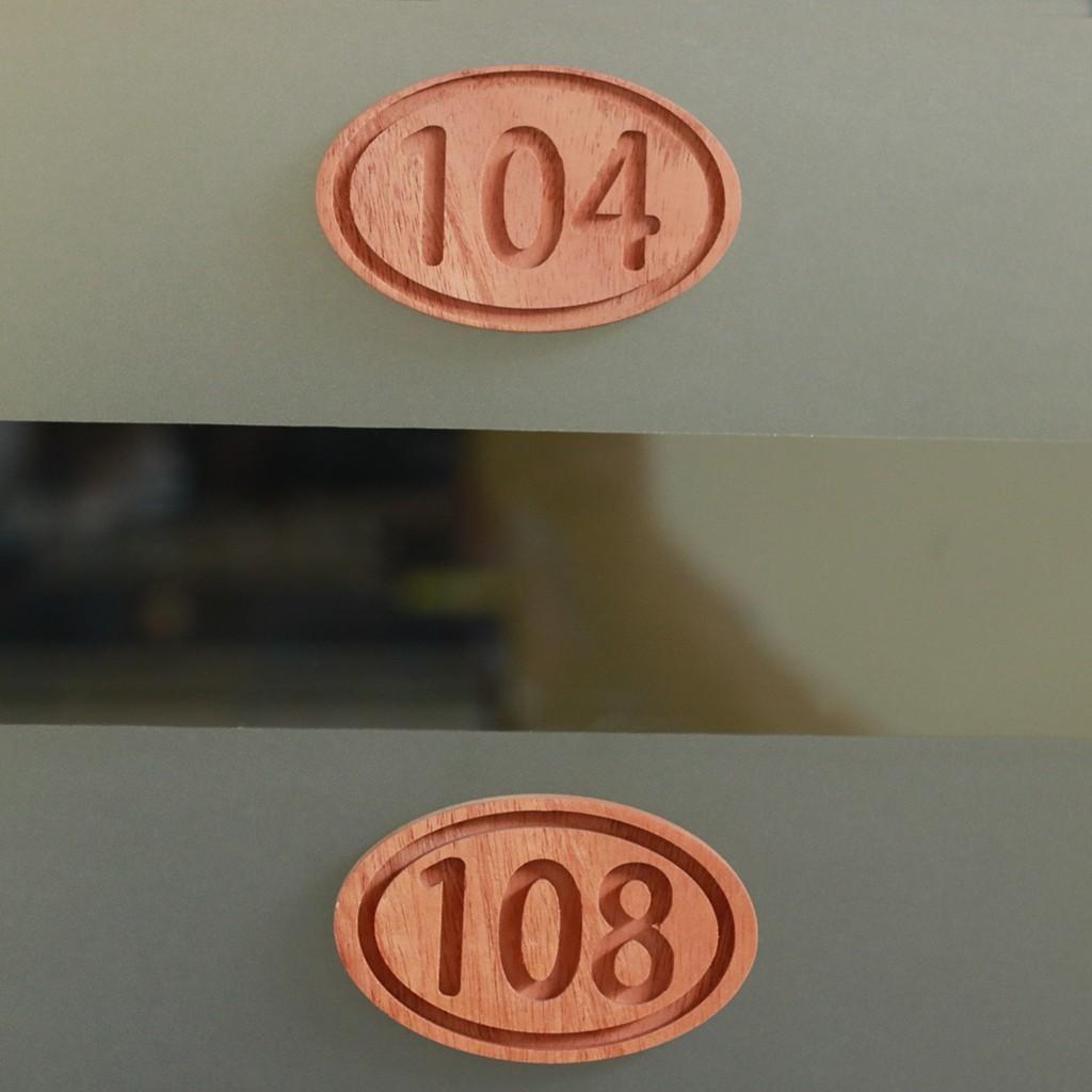 Carved Hotel Room Numbers