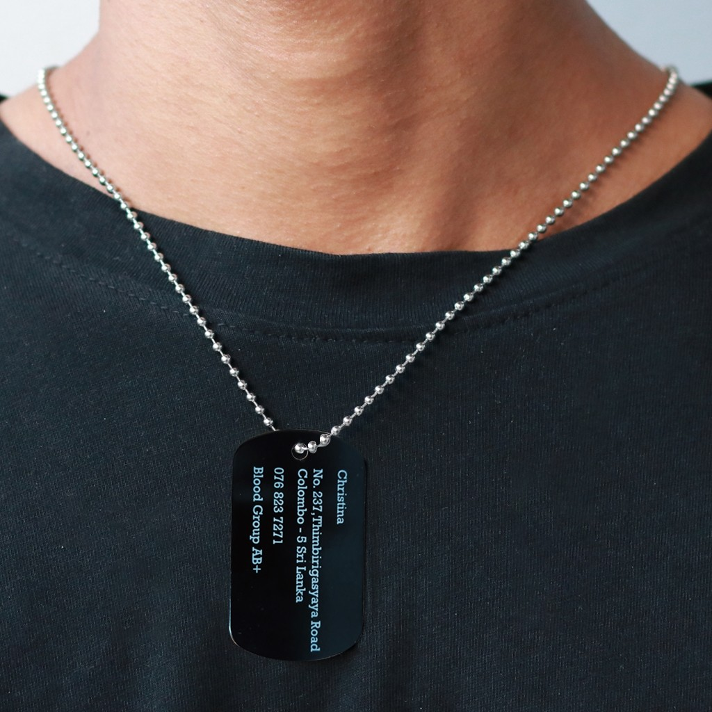 Black Dogtag Chains
