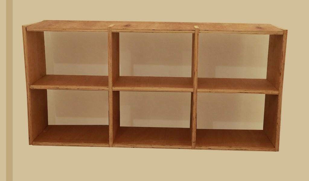 Wallmount Wooden Shelf - Small