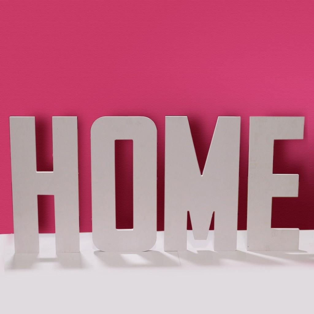 12 inch White Home Decor Letter