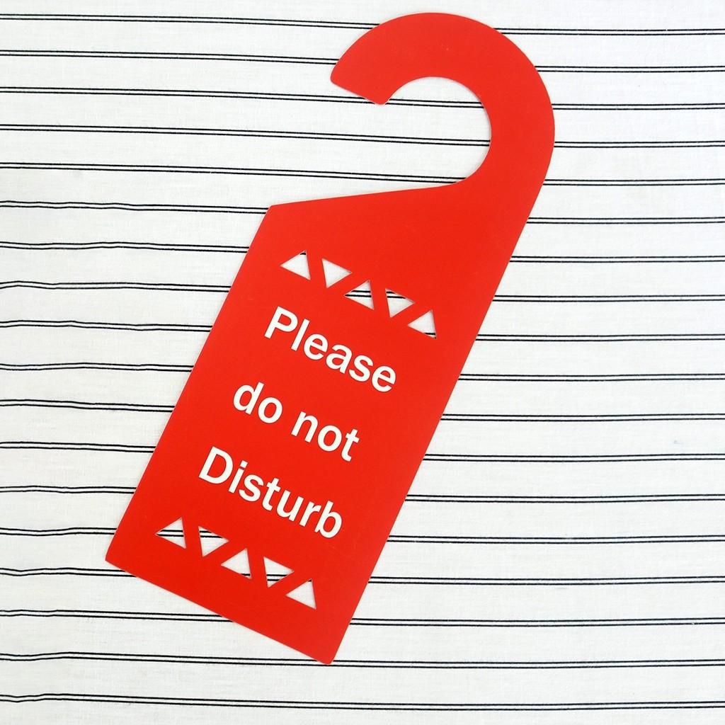 Plastic Film Do Not Disturb Sign