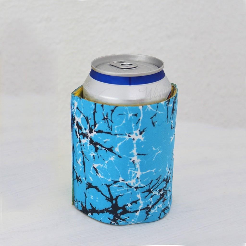 Batik Blues Beer Stubby Holder