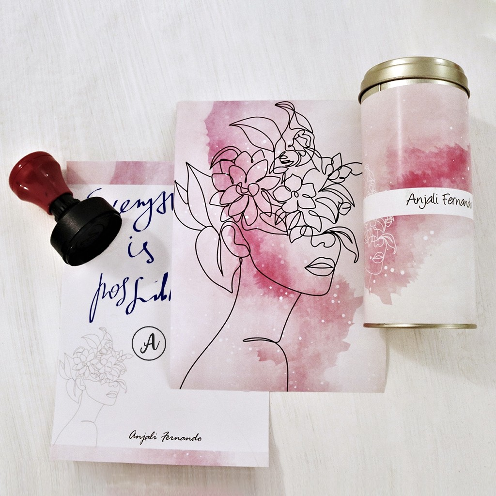 Personalised Stationery Set in Tin
