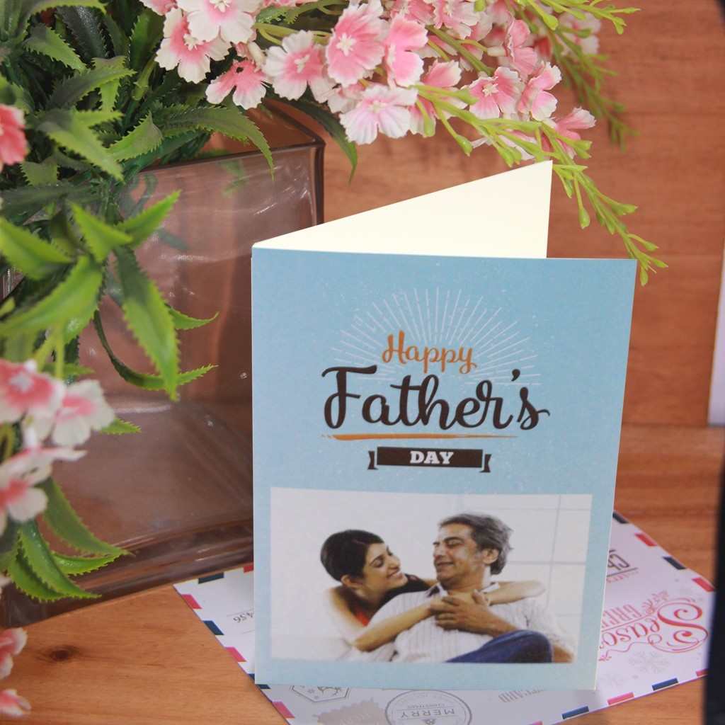 Blue Sunrise Father's Day Card
