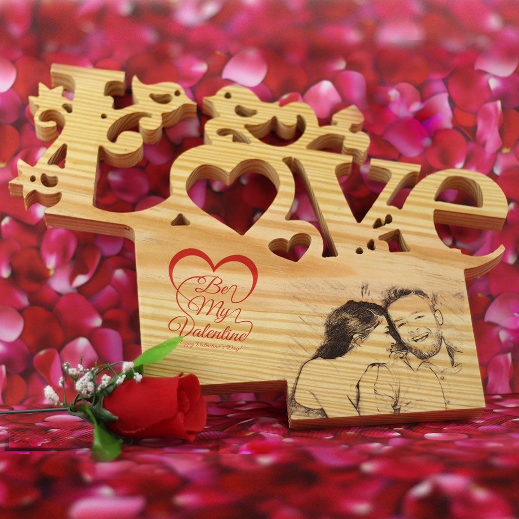 LOVE Wooden Letter with Picture