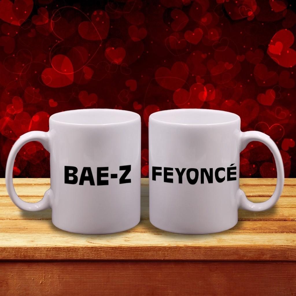 """""""Bae-Z"""" & """"Feyoncé"""" Couple Mugs"""