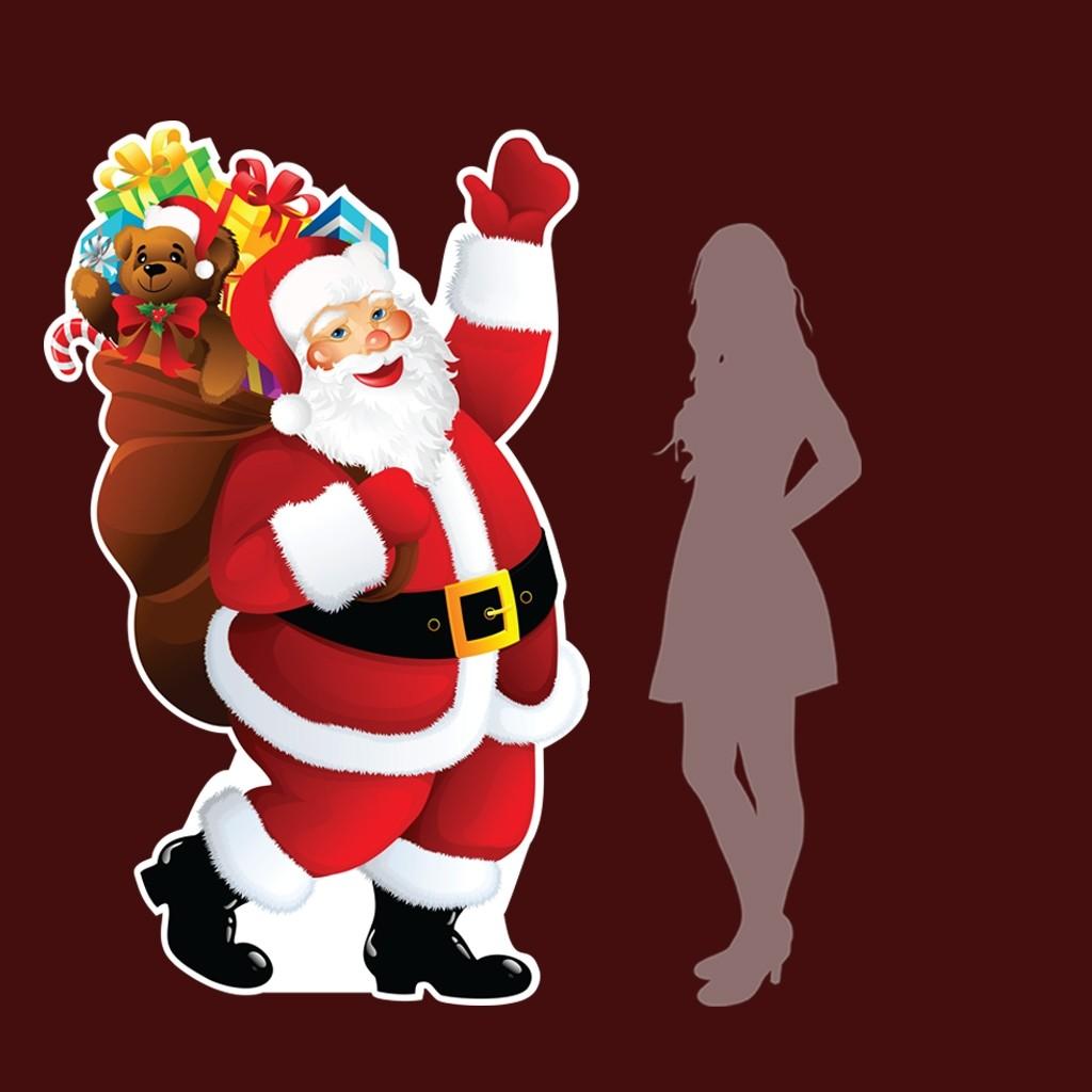 life size Santa cutout