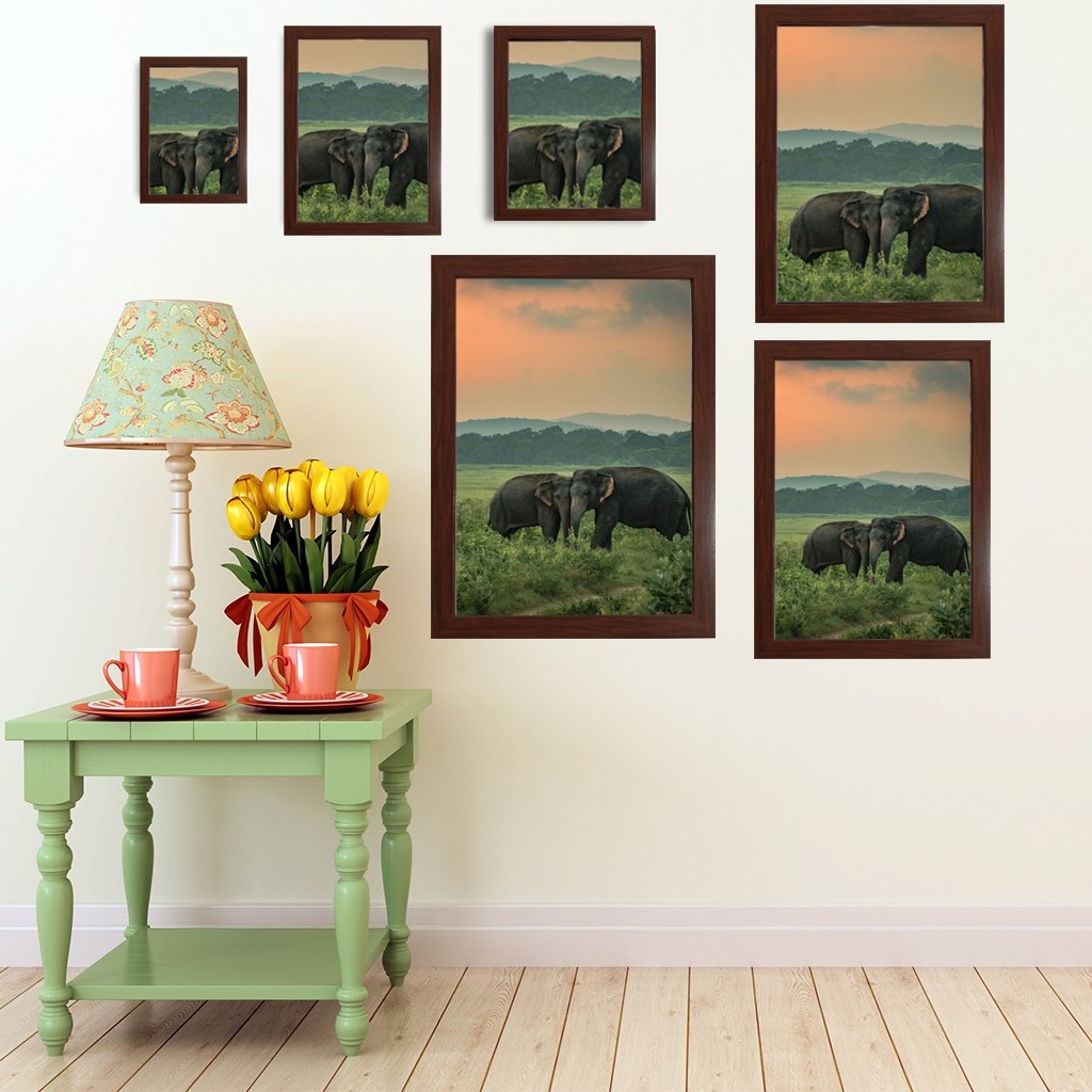 Brown Wooden Photo Frames