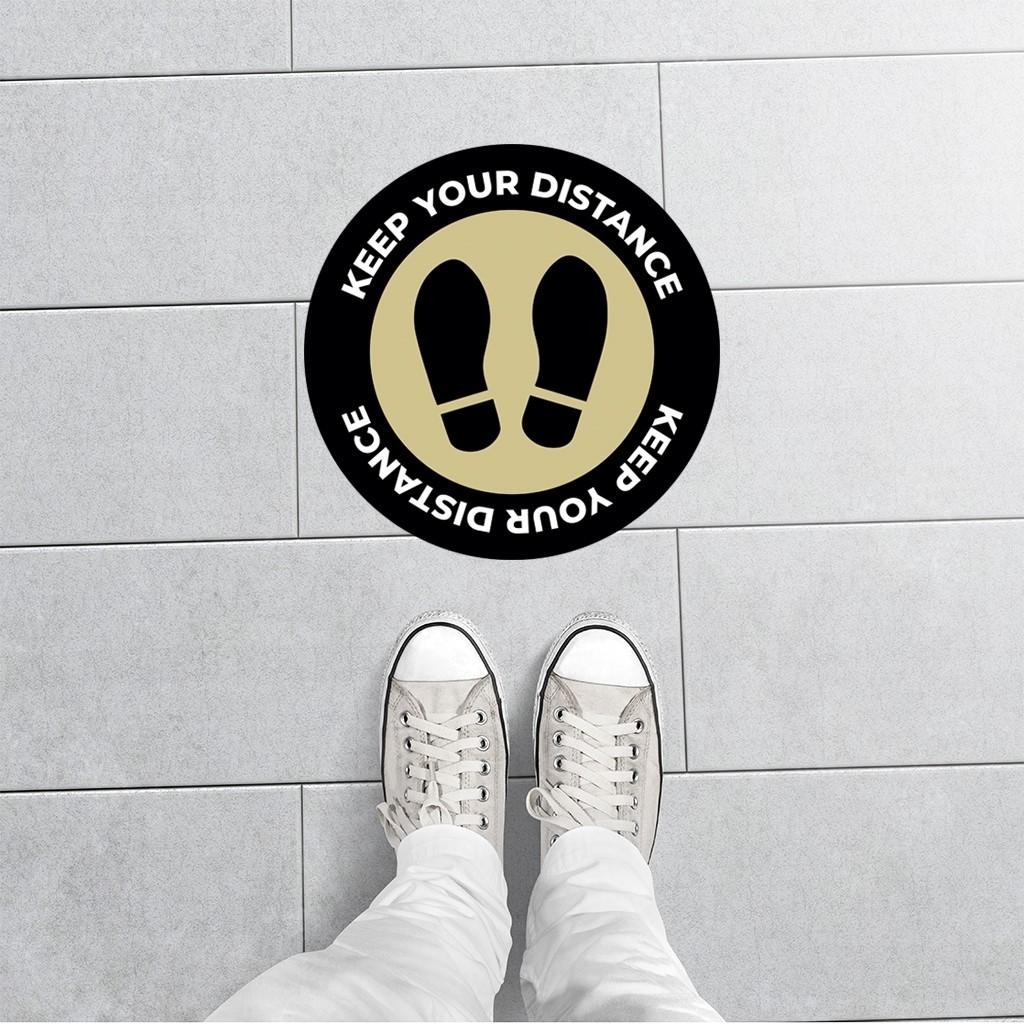 Social distance sticker