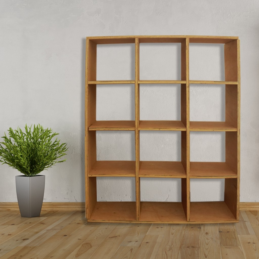 Wallmount Wooden Shelf - Large