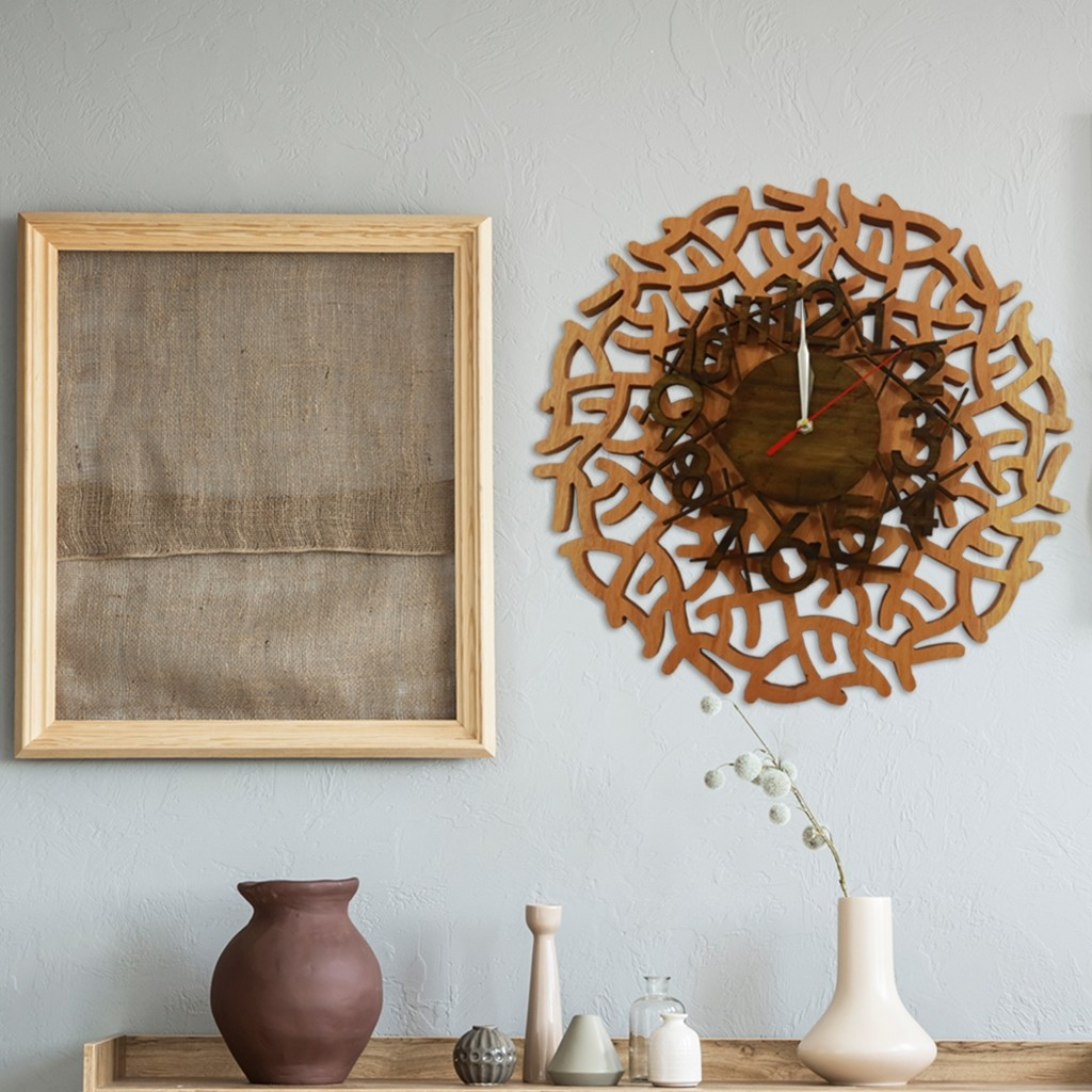 Branched Out Wooden Wall Clock