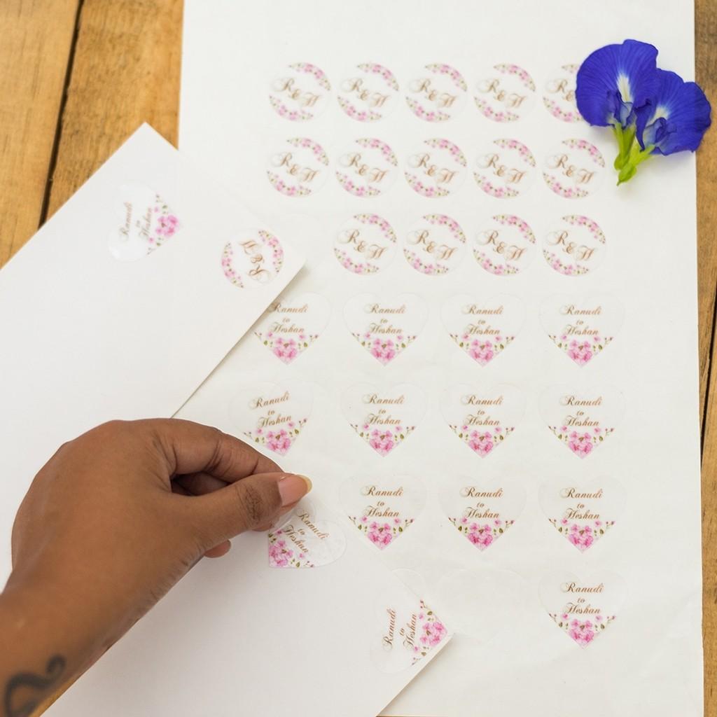 Wedding Envelope Transparent Seal Sticker