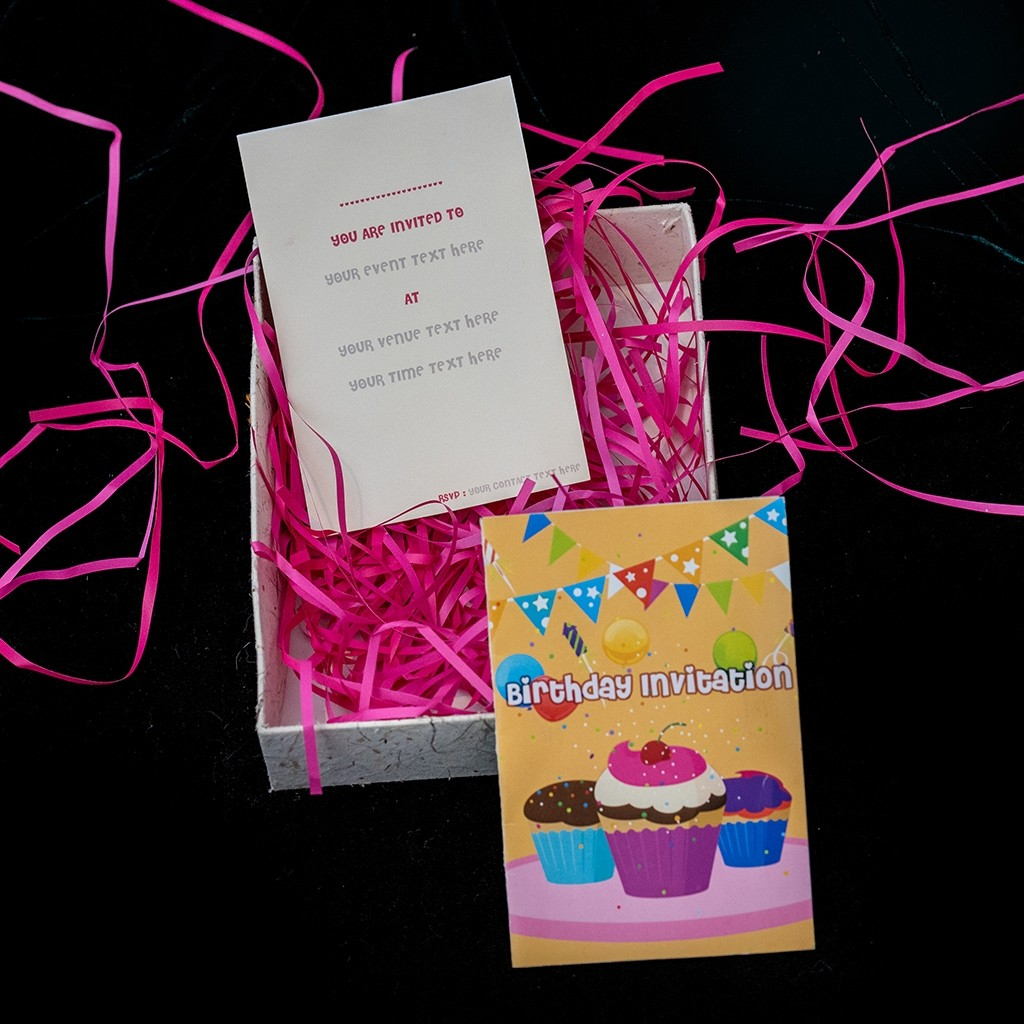 Birthday Invitation Card (Double Sided)