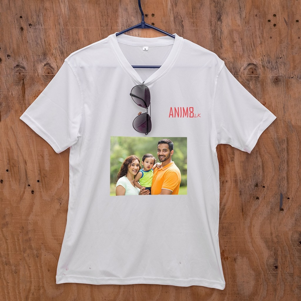 a1f62b3764 White V-neck T-shirt | Anim8