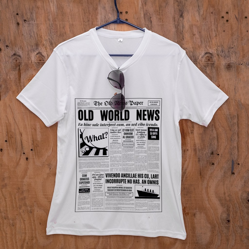 T-Shirt - Newspaper Design