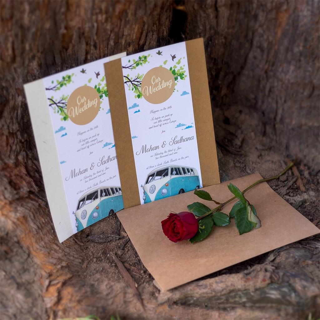 Bohemian Wedding Card