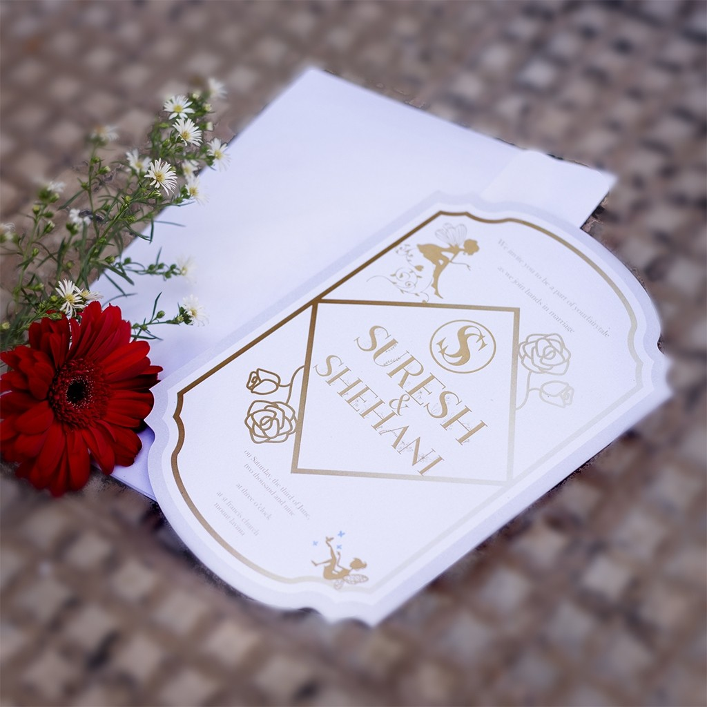 Fantasy Themed Wedding Card