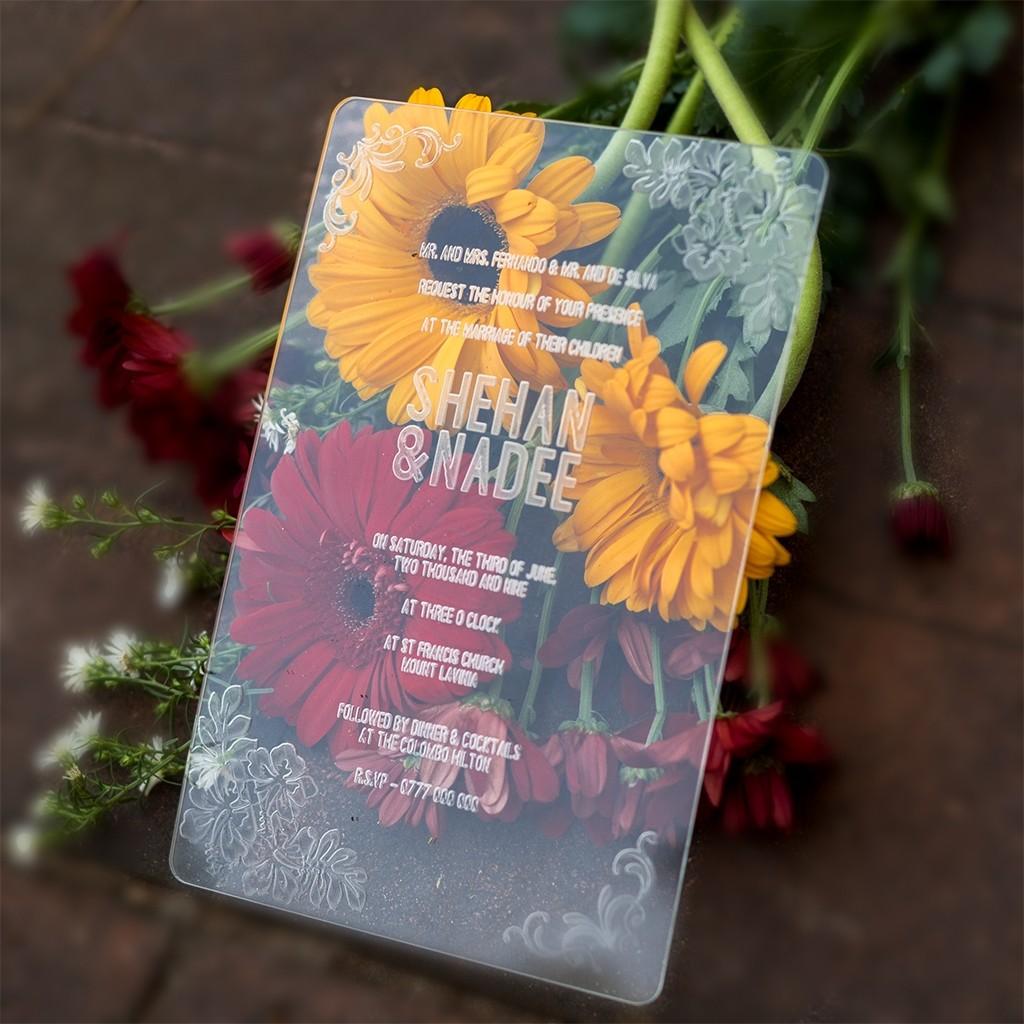 Clear Acrylic Wedding Card