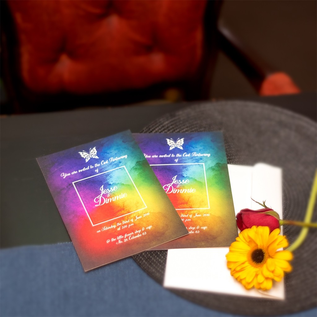 Civil Partnership Rainbow Card