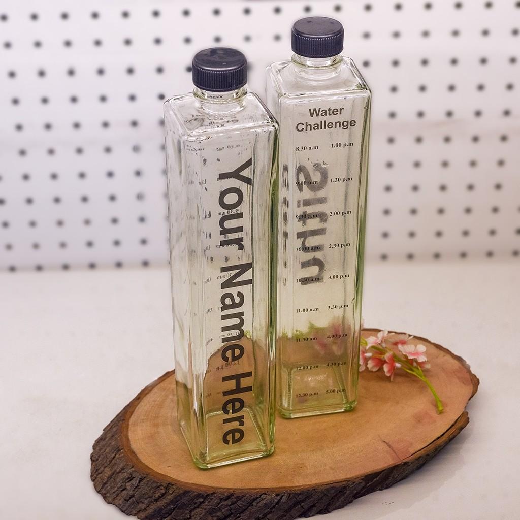 Water Intake Tracker Bottle (Glass)
