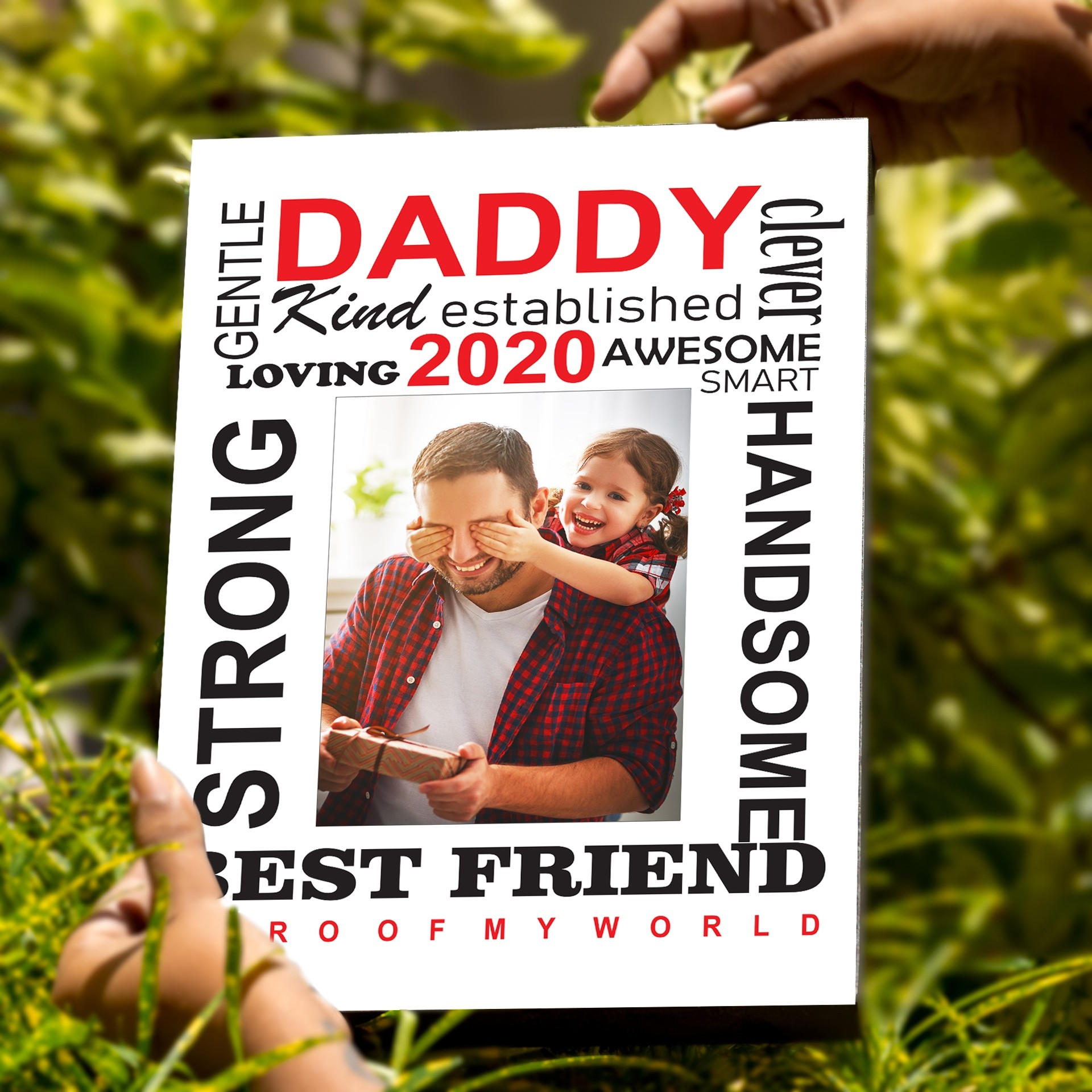 Father's Day Box Frame - Word Jumble