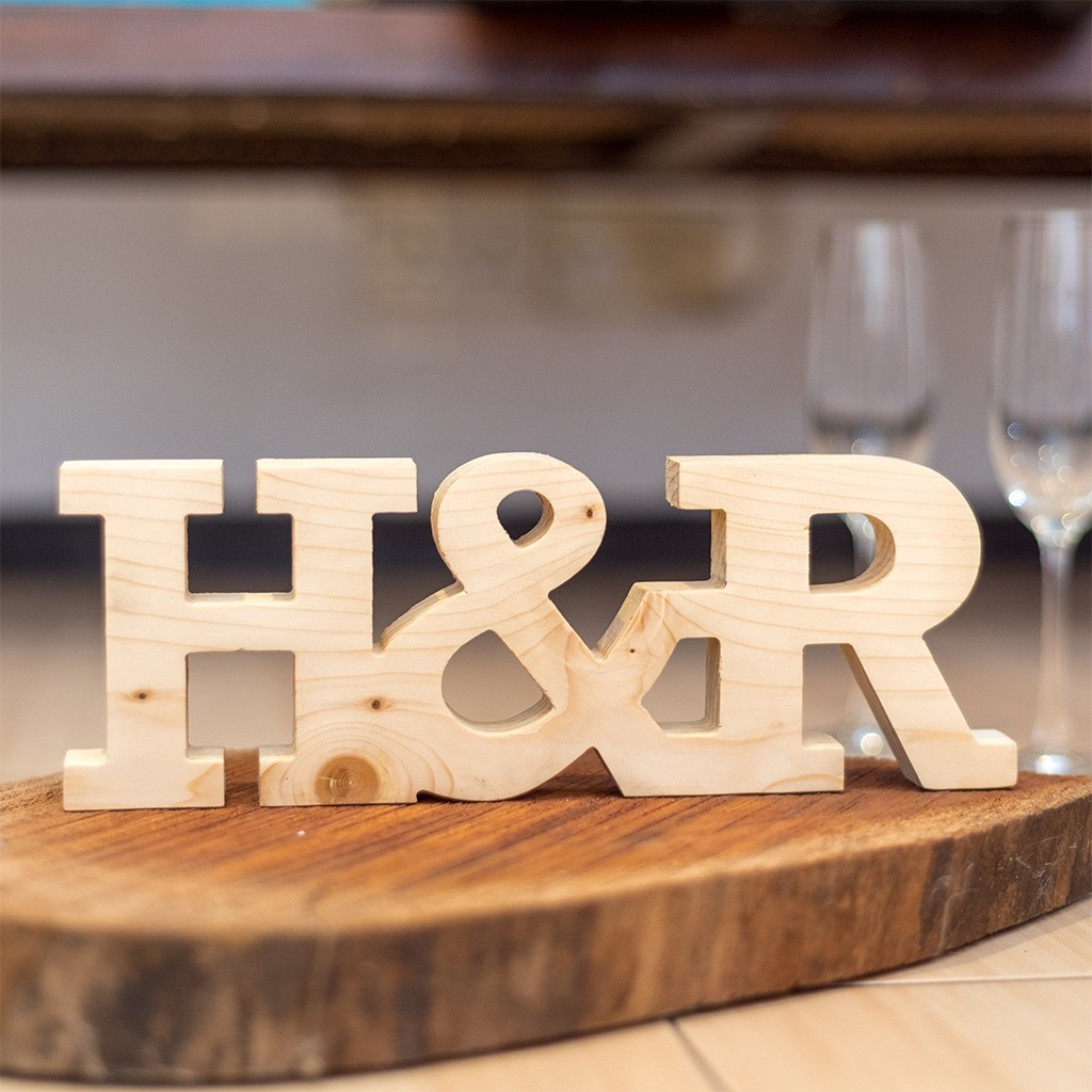 Wedding Table Decor Letters