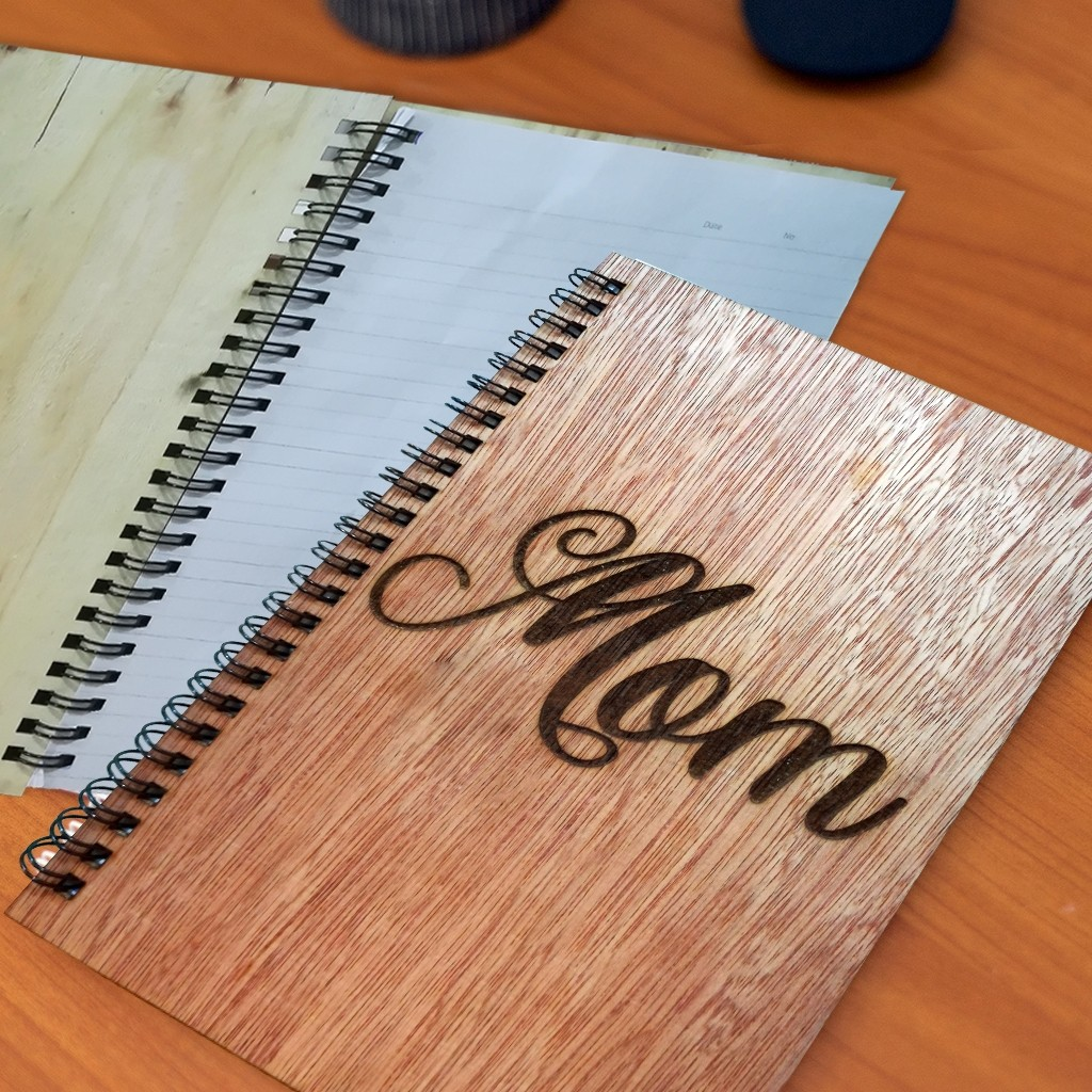 Mother's Day Wooden Cover Note Book