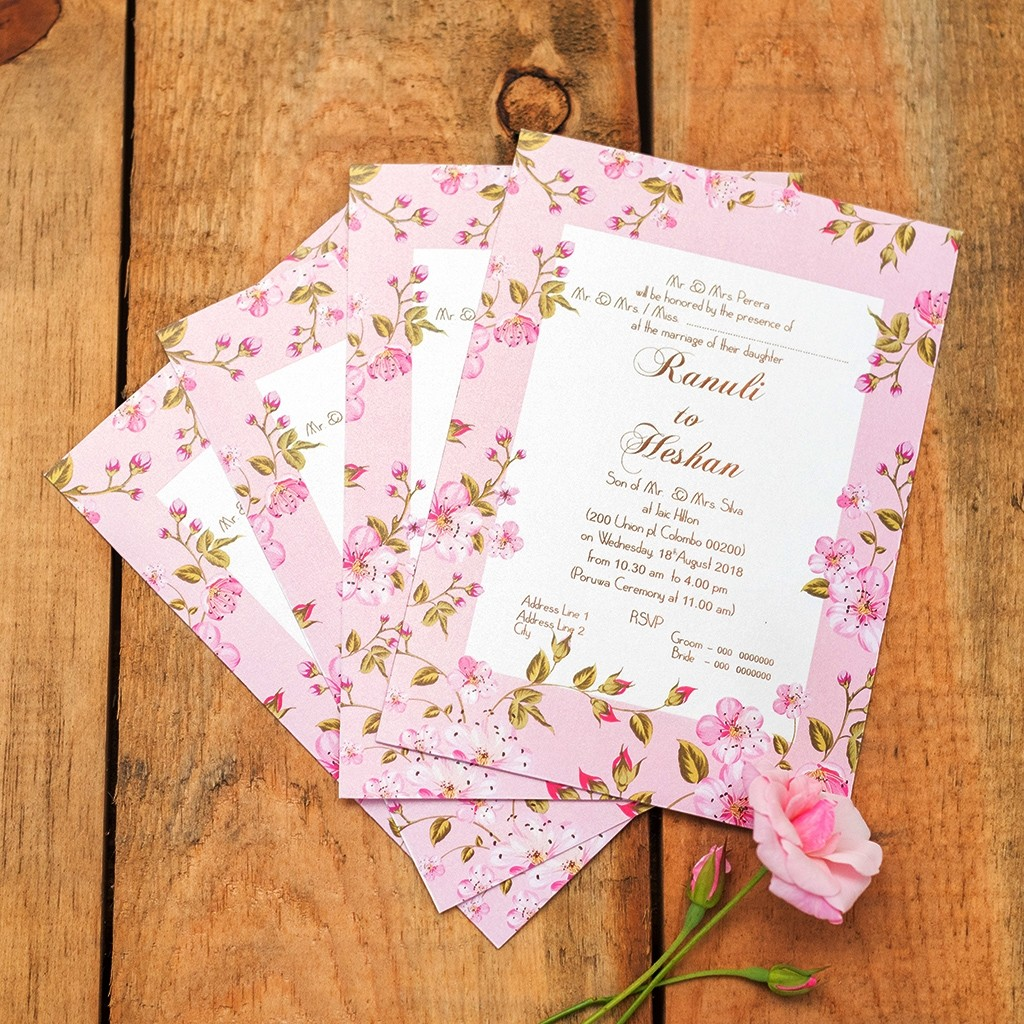 Wedding Invitation Card (Double Sided)