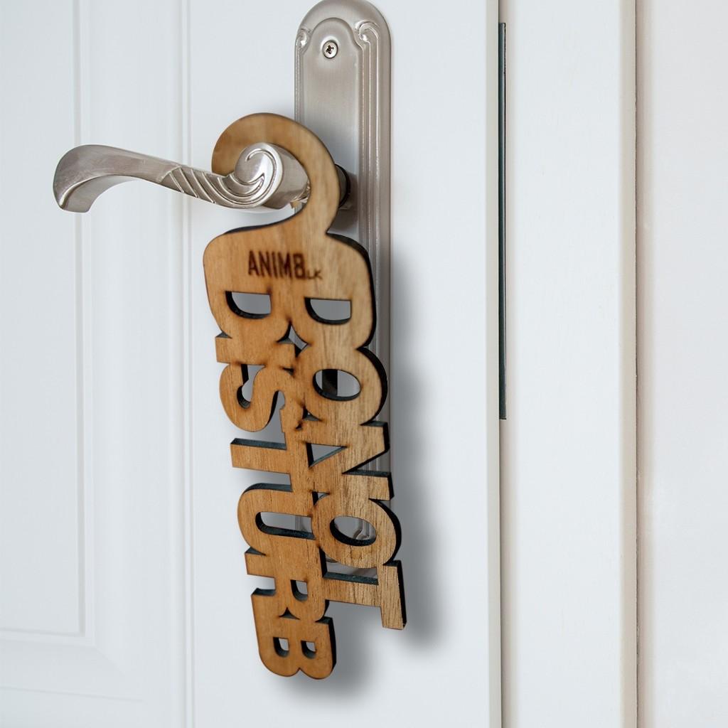 Do Not Disturb Text Cut Door Hanger