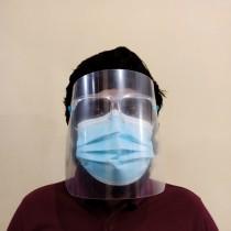 Protective Face Visor Over Eyewear Frame