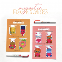 Magnetic bookmarks - Set 4