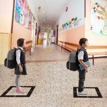 SQUARE SOCIAL DISTANCING FLOOR FOR SCHOOL