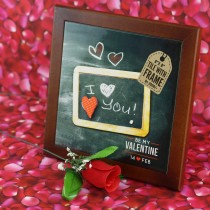 Valentine's Day 8x8 Framed Tile